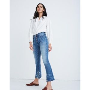 MADEWELL Petite Cali Demi-Boot Jeans in Bess Wash